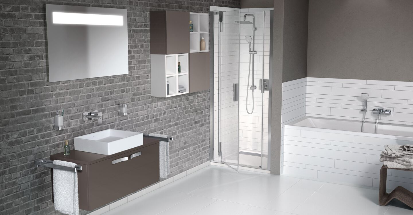Dual shower system built-in