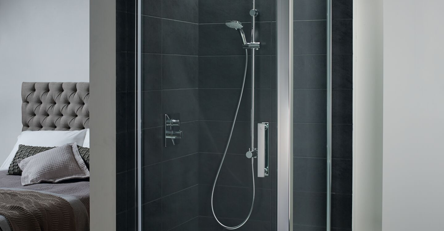 1000mm shower side panel clear glass