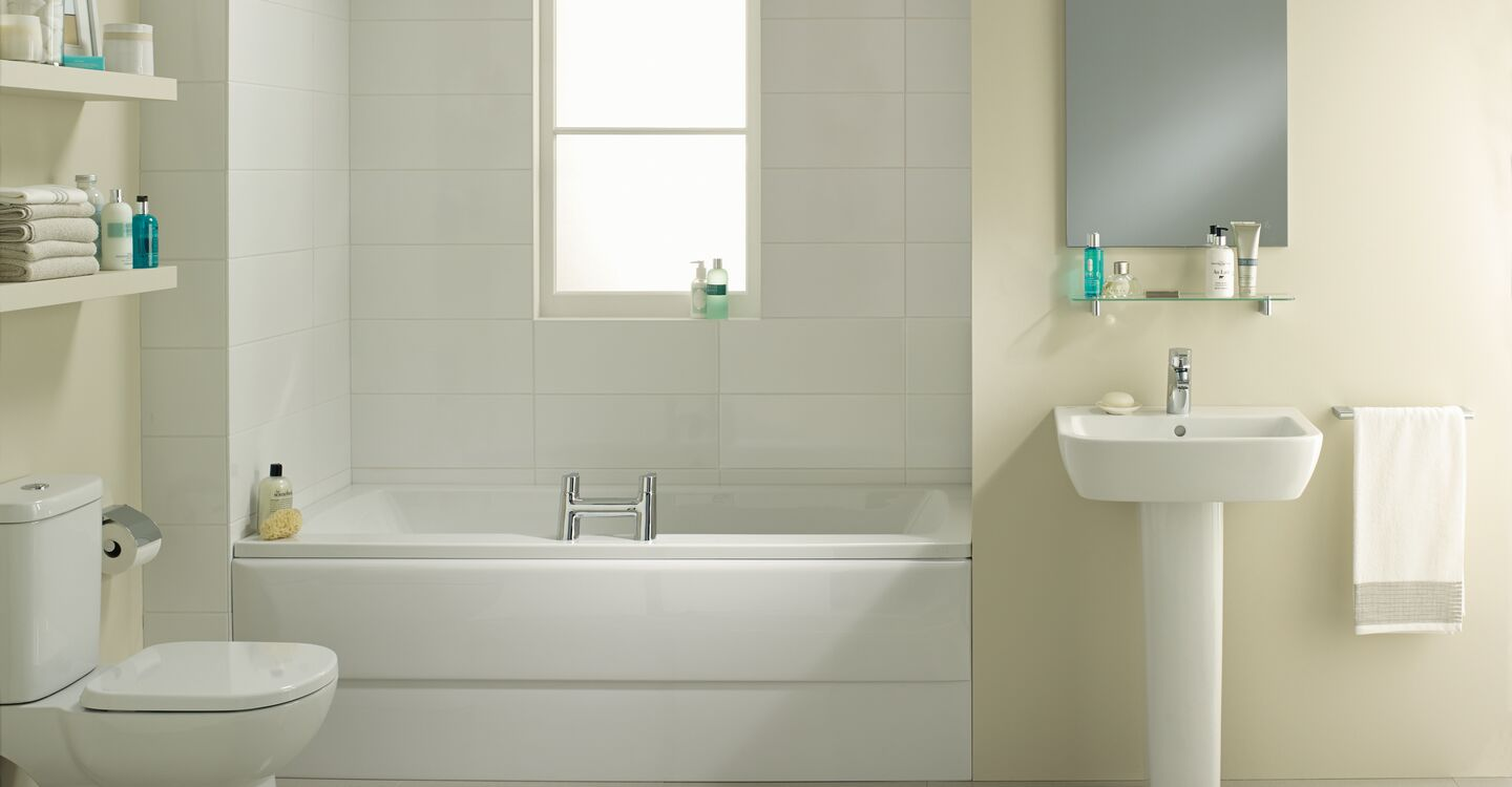 Arc bath 170x70cm water saving no tapholes