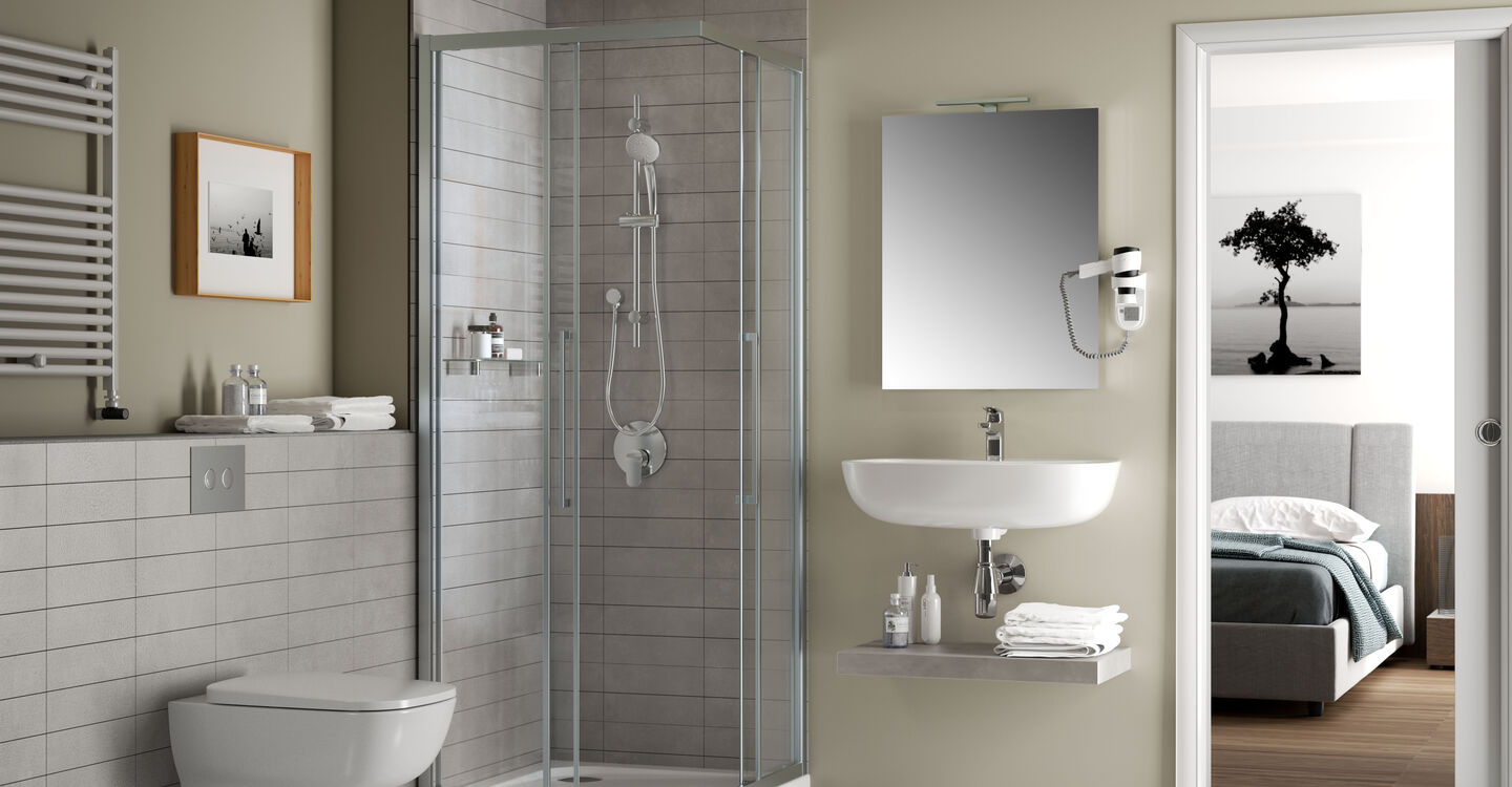 60cm mirror with ambient light and anti-steam